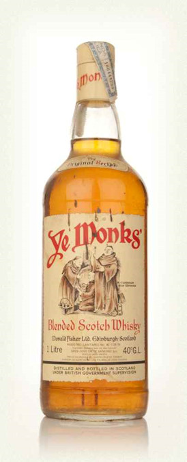 Ye Monks Blended Scotch Whisky 1970s-whisky